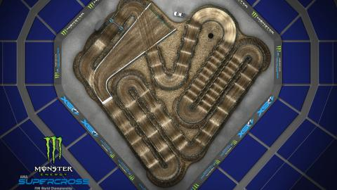 PETCO Park San Diego, CA Feb. 8 2020 Monster Energy Supercross Track Map Overview