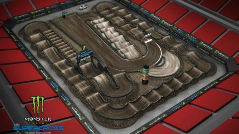 Raymond James Stadium Tampa, FL Feb. 15 2020 Monster Energy Supercross Track Map Side 1