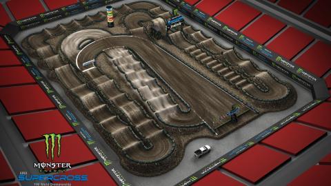 Raymond James Stadium Tampa, FL Feb. 15 2020 Monster Energy Supercross Track Map Side 2