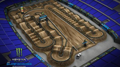 AT&T Stadium Arlington, TX Feb. 22 2020 Monster Energy Supercross Track Map Side 2