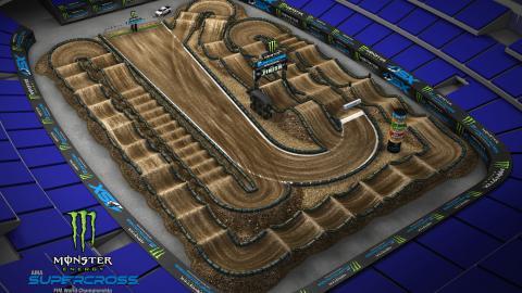 AT&T Stadium Arlington, TX Feb. 22 2020 Monster Energy Supercross Track Map Side 1