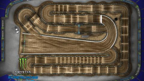 AT&T Stadium Arlington, TX Feb. 22 2020 Monster Energy Supercross Track Map Overview