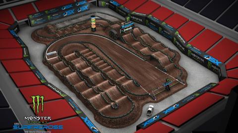Mercedes-Benz Stadium Atlanta, GA Feb. 29 2020 Monster Energy Supercross Track Map Side 1