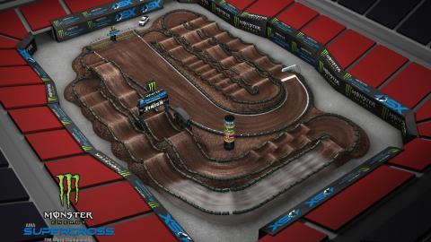 Mercedes-Benz Stadium Atlanta, GA Feb. 29 2020 Monster Energy Supercross Track Map Side 2