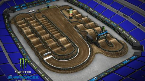 Lucas Oil Stadium Indianapolis, IN Mar. 14 2020 Monster Energy Supercross Track Map Side 2