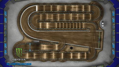 Lucas Oil Stadium Indianapolis, IN Mar. 14 2020 Monster Energy Supercross Track Map Overview