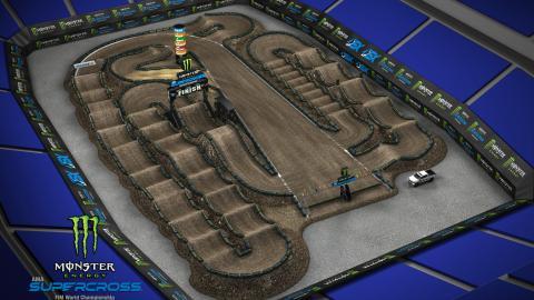 Ford Field Detroit, MI Mar. 21 2020 Monster Energy Supercross Track Map 1