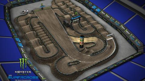 Ford Field Detroit, MI Mar. 21 2020 Monster Energy Supercross Track Map 2