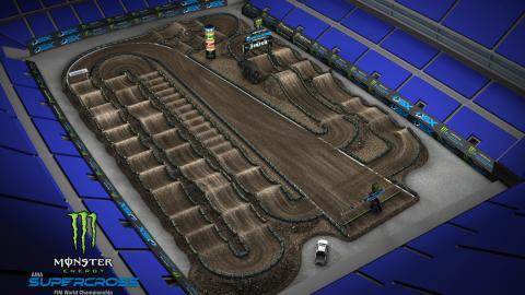 CenturyLink Field Seattle, WA Mar. 28 2020 Monster Energy Supercross Track Map Side 2