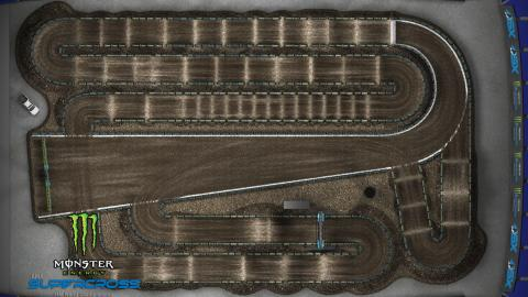 CenturyLink Field Seattle, WA Mar. 28 2020 Monster Energy Supercross Track Map Overview