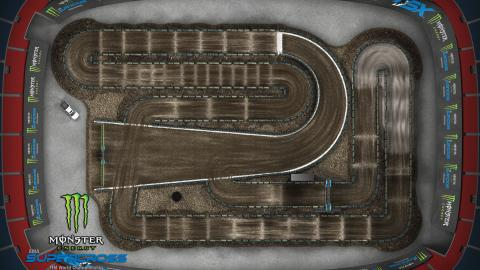 Empower Field at Mile High Denver, CO Apr. 4 2020 Monster Energy Supercross Track Map Overview
