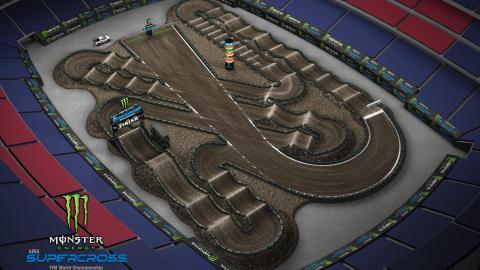 Gillette Stadium Foxboro, MA Apr. 18 2020 Monster Energy Supercross Track Map Side 2