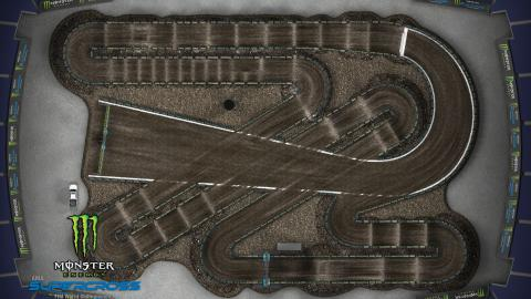 Gillette Stadium Foxboro, MA Apr. 18 2020 Monster Energy Supercross Track Map Overview