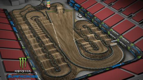 Sam Boyd Stadium Las Vegas, NV Apr. 25 2020 Monster Energy Supercross Track Map Side 2