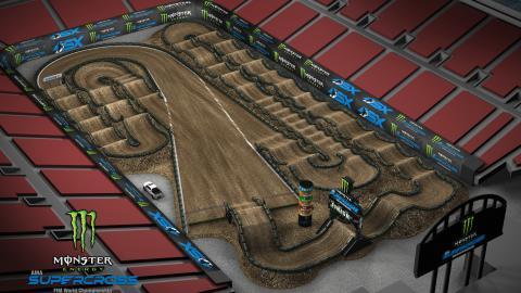 Sam Boyd Stadium Las Vegas, NV Apr. 25 2020 Monster Energy Supercross Track Map Side 1