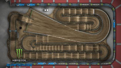 Sam Boyd Stadium Las Vegas, NV Apr. 25 2020 Monster Energy Supercross Track Map Overview