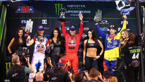 Podium at East Rutherford
