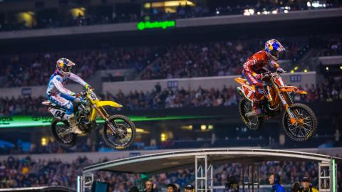 Dungey and Roczen battle at Indianapolis