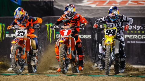 Top three riders from the 450SX class