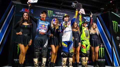 Supercross Atlanta 450SX Podium