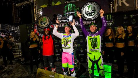2019 Monster Energy Cup Podium
