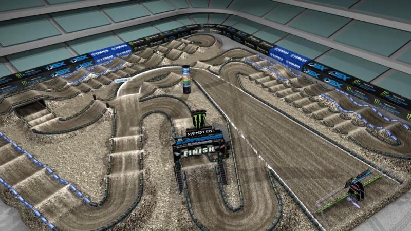 First Team Toyota >> Yamaha Animated Track Map: Anaheim 1 | Supercross Live