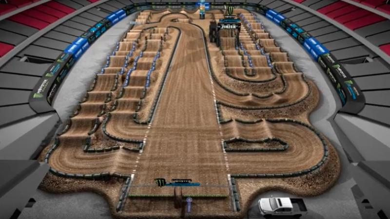 Toyota Of Glendale >> Yamaha Animated Track Map: Glendale | Supercross Live